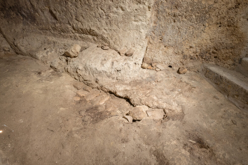 muri-interni-frantoio-roccia-rupestre-moom-matera-olive-oil-museum-museo-olio-oliva